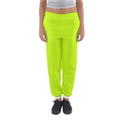 Neon Color   Luminous Vivid Lime Green Women s Jogger Sweatpants by tarastyle