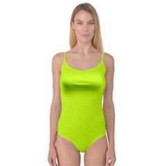 Neon Color   Luminous Vivid Lime Green Camisole Leotard  by tarastyle