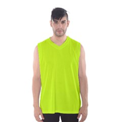 Neon Color   Luminous Vivid Lime Green Men s Basketball Tank Top by tarastyle