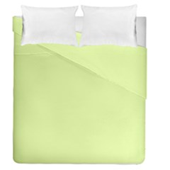 Neon Color   Pale Lime Green Duvet Cover Double Side (queen Size) by tarastyle