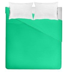 Neon Color   Vivid Aquamarine Duvet Cover Double Side (queen Size) by tarastyle