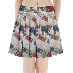 Marine Le Pen Pleated Mini Skirt