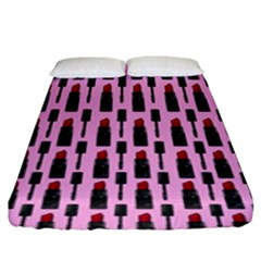 Makeup Fitted Sheet (king Size) by Valentinaart