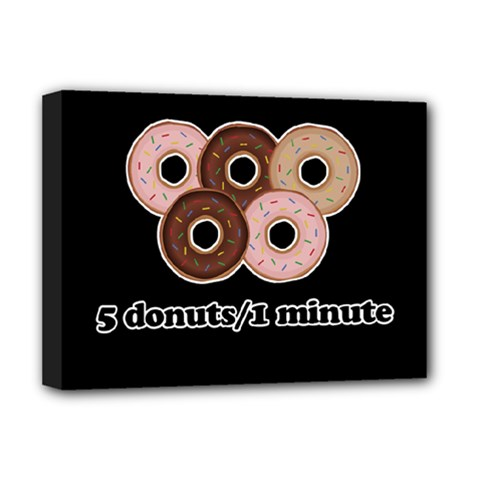Five Donuts In One Minute  Deluxe Canvas 16  X 12