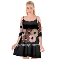Five Donuts In One Minute  Cutout Spaghetti Strap Chiffon Dress by Valentinaart