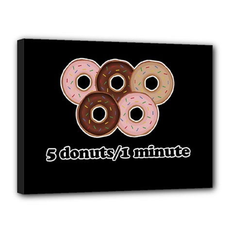 Five Donuts In One Minute  Canvas 16  X 12