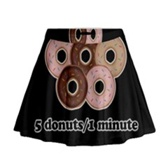 Five Donuts In One Minute  Mini Flare Skirt by Valentinaart