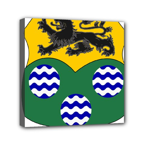 County Leitrim Coat Of Arms Mini Canvas 6  X 6  by abbeyz71