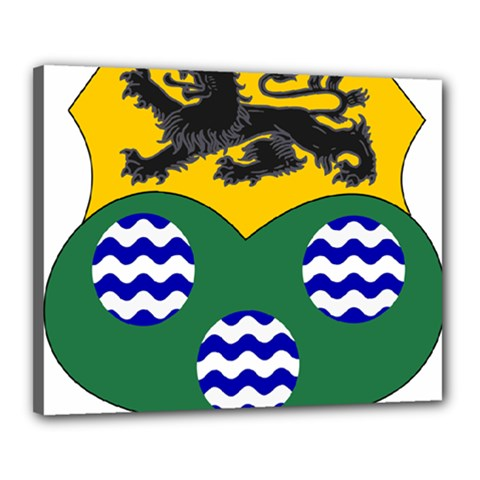 County Leitrim Coat Of Arms  Canvas 20  X 16  by abbeyz71