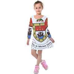 County Mayo Coat Of Arms Kids  Long Sleeve Velvet Dress by abbeyz71