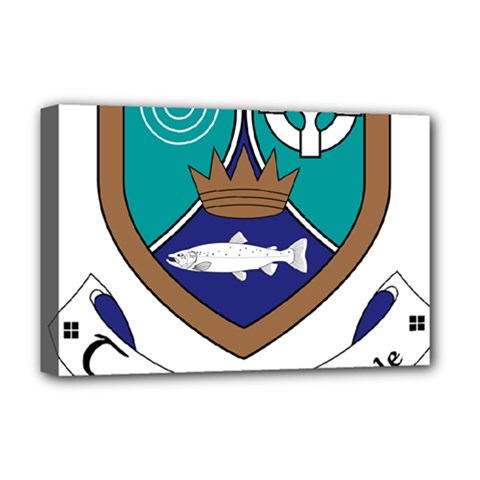 County Meath Coat Of Arms Deluxe Canvas 18  X 12   by abbeyz71
