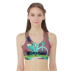 Bikeride Sports Bra With Border