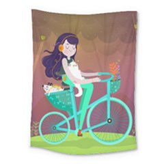 Bikeride Medium Tapestry by Mjdaluz