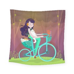 Bikeride Square Tapestry (small) by Mjdaluz