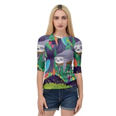 Sloth In Nature Quarter Sleeve Tee