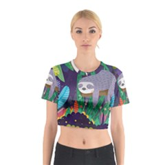Sloth In Nature Cotton Crop Top