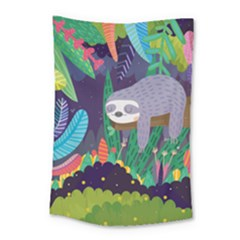 Sloth In Nature Small Tapestry by Mjdaluz