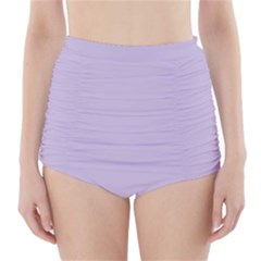 Pastel Color   Light Violetish Gray High Waisted Bikini Bottoms by tarastyle
