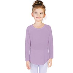 Pastel Color - Magentaish Gray Kids  Long Sleeve Tee