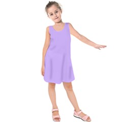 Pastel Color   Pale Blue Violet Kids  Sleeveless Dress by tarastyle