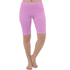 Pastel Color   Pale Cerise Cropped Leggings  by tarastyle