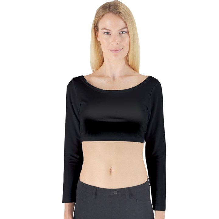 Black Gothic Long Sleeve Crop Top