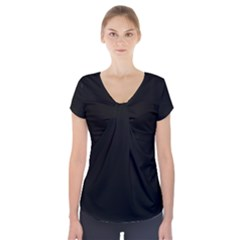 Black Gothic Short Sleeve Front Detail Top by Costasonlineshop