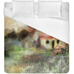 Old Spanish Village Duvet Cover (king Size) by digitaldivadesigns