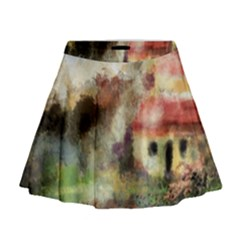 Old Spanish Village Mini Flare Skirt by digitaldivadesigns