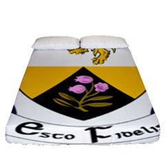 County Offaly Coat Of Arms  Fitted Sheet (queen Size) by abbeyz71