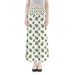 Leaves Motif Nature Pattern Maxi Skirts by dflcprintsclothing