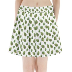 Leaves Motif Nature Pattern Pleated Mini Skirt by dflcprintsclothing
