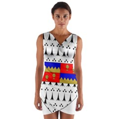 County Tipperary Coat Of Arms  Wrap Front Bodycon Dress by abbeyz71