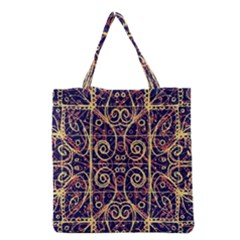 Tribal Ornate Pattern Grocery Tote Bag by dflcprints