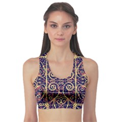 Tribal Ornate Pattern Sports Bra by dflcprintsclothing