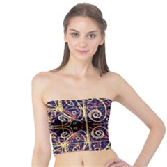 Tribal Ornate Pattern Tube Top by dflcprintsclothing