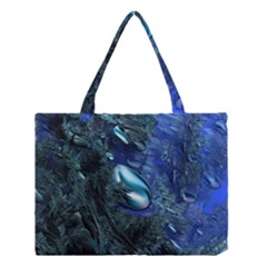 Shiny Blue Pebbles Medium Tote Bag by linceazul