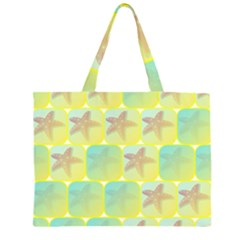 Starfish Zipper Large Tote Bag by linceazul