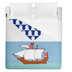 Flag Of Belfast Duvet Cover (queen Size) by abbeyz71