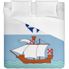 Flag Of Belfast Duvet Cover (king Size) by abbeyz71