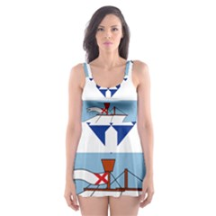Flag Of Belfast Skater Dress Swimsuit