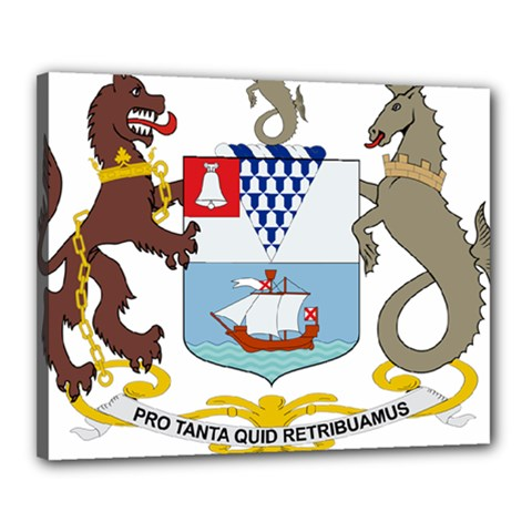 Coat Of Arms Of Belfast  Canvas 20  X 16  by abbeyz71
