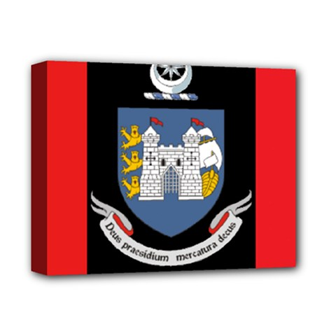 Flag Of Drogheda  Deluxe Canvas 14  X 11  by abbeyz71