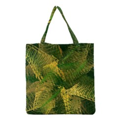 Green And Gold Abstract Grocery Tote Bag by linceazul