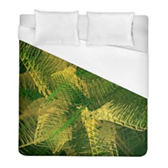 Green And Gold Abstract Duvet Cover (full/ Double Size) by linceazul