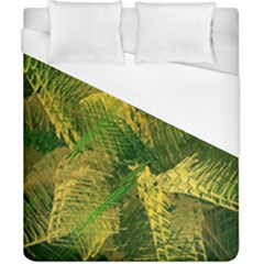 Green And Gold Abstract Duvet Cover (california King Size) by linceazul
