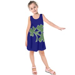 Flag Of Ireland Cricket Team  Kids  Sleeveless Dress