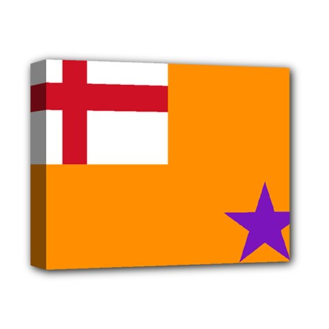 Flag Of The Orange Order Deluxe Canvas 14  X 11  by abbeyz71