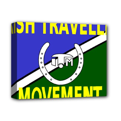 Flag Of The Irish Traveller Movement Deluxe Canvas 14  X 11  by abbeyz71