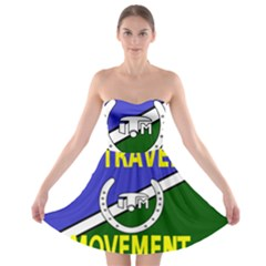 Flag Of The Irish Traveller Movement Strapless Bra Top Dress by abbeyz71